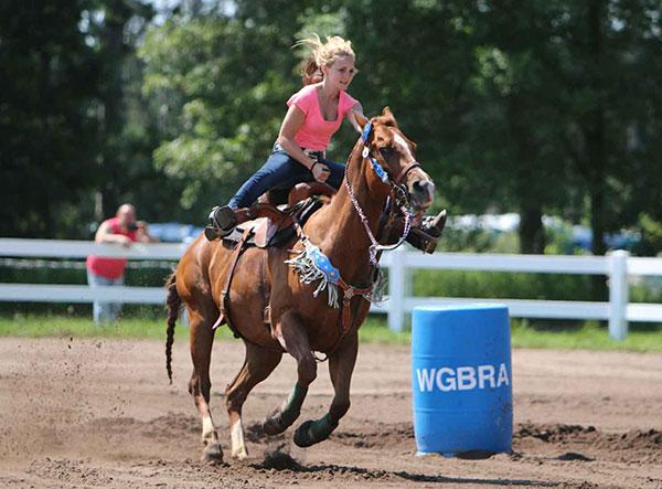 Barrel Racing Girl